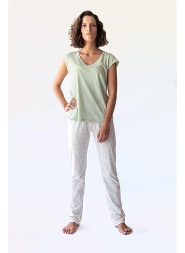 Hays Kadın Uzun Penye Alt Yeşil
